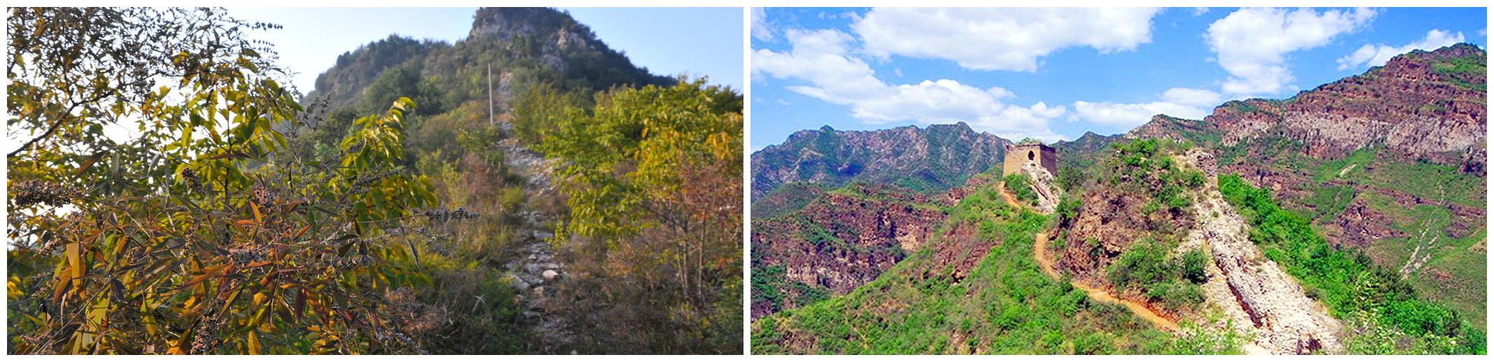 爬长城看风景,沿途还有免费的矿泉水提供给登山爱好者和驴友朋友们