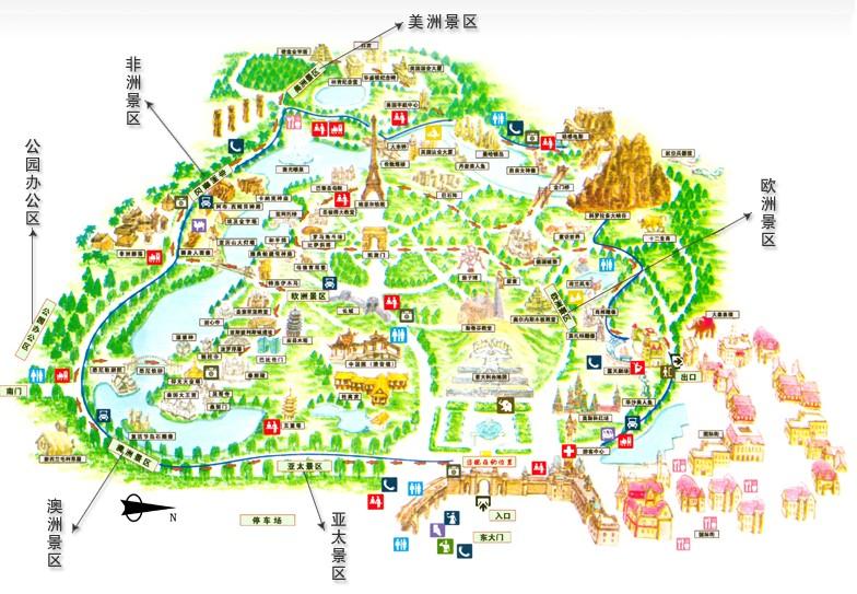 萝岗区植树公园地图
