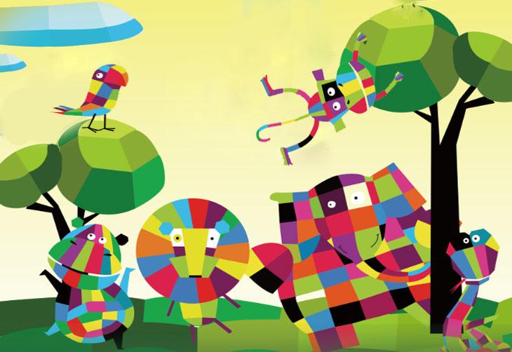 森系女孩森林小动物可爱手绘童话插画矢量设计素材